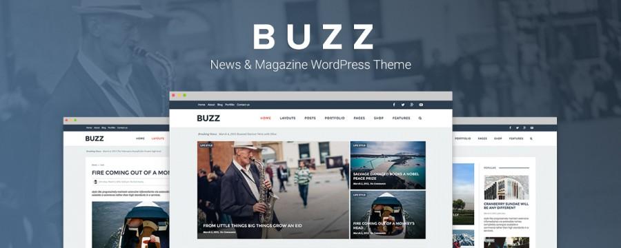 Buzz – תבנית מגזין לוורדפרס בסטייל נקי מודרני