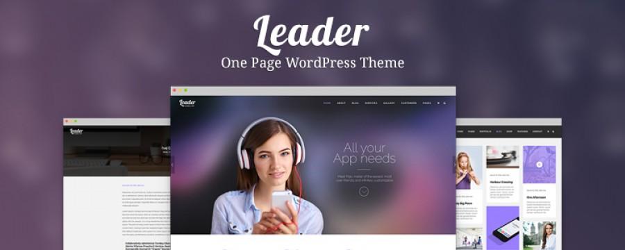 Leader: תבנית One page עם טאצ' מודרני במיוחד