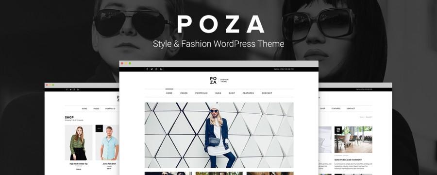 Poza – תבנית וורדפרס לאתרים אופנתיים במיוחד