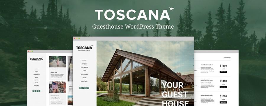 Toscana – תבנית וורדפרס לצימרים ובתי הארחה
